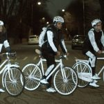 Volvo designed a reflective spraypaint to Keep Bikers Safe at Night