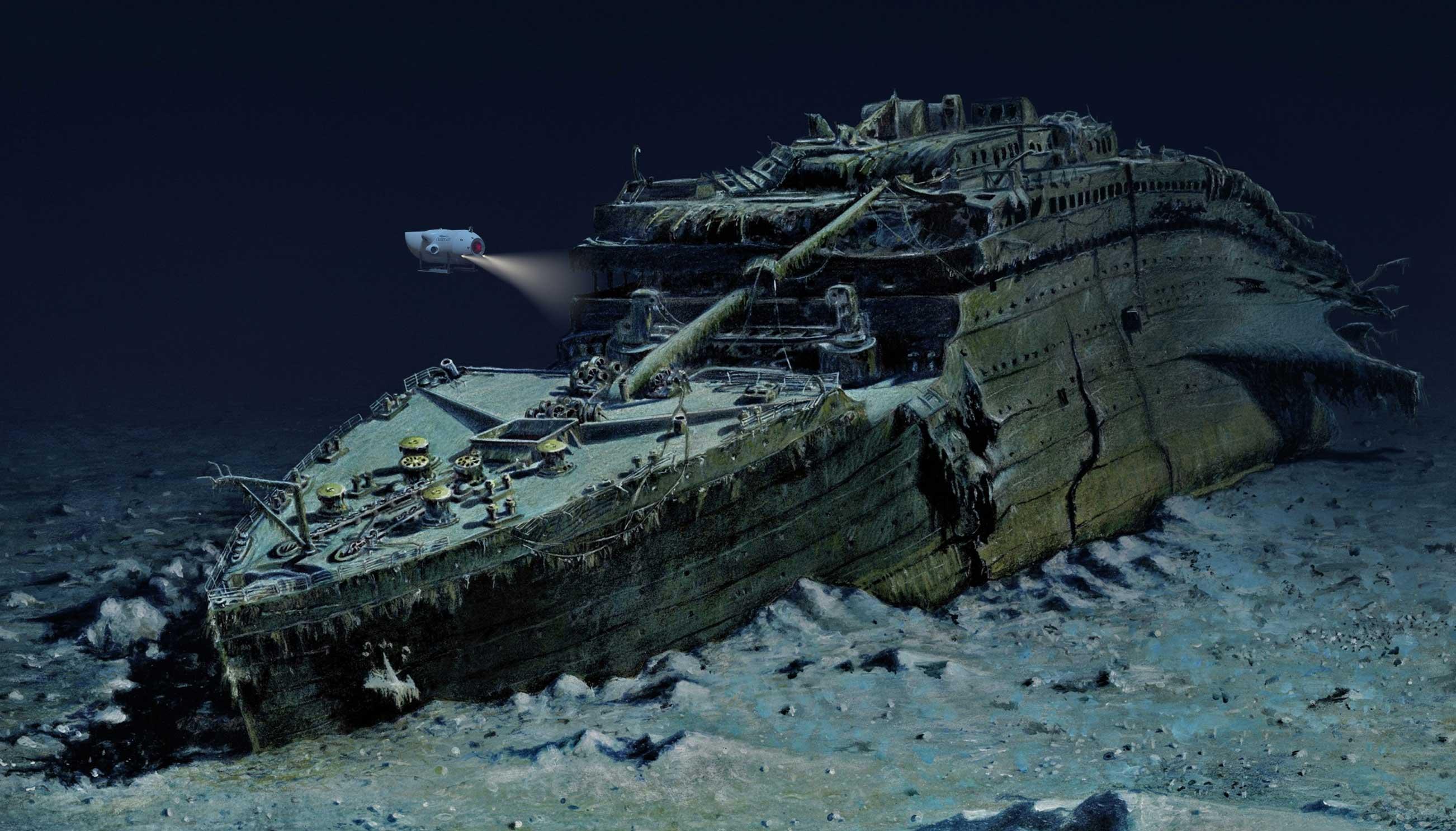 Image result for titanic shipwreck