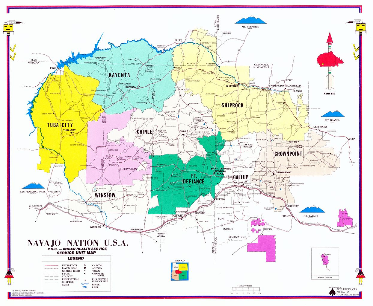Navajo-Nation-Map: Improving Public Health Services with GIS Information & Analysis