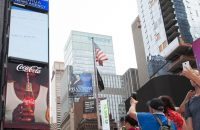 Coca-Cola Installs First 3D Robotic Sign in Times Square