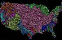 High-resolution map of U.S. river basins