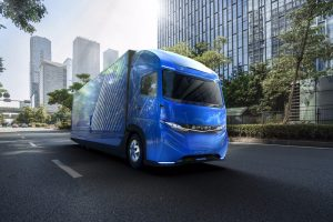 Daimler Introduces Its E-Fuso Vision One Electric Truck