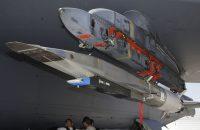 An X-51A WaveRider hypersonic flight test vehicle is uploaded to an Air Force Flight Test Center
