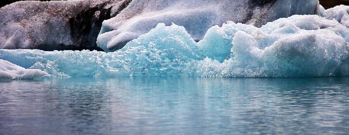 Ocean floor sinking due to melting glaciers
