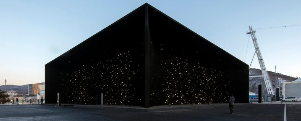 "Olympic Pavilion Is ""Darkest Building on Earth"""