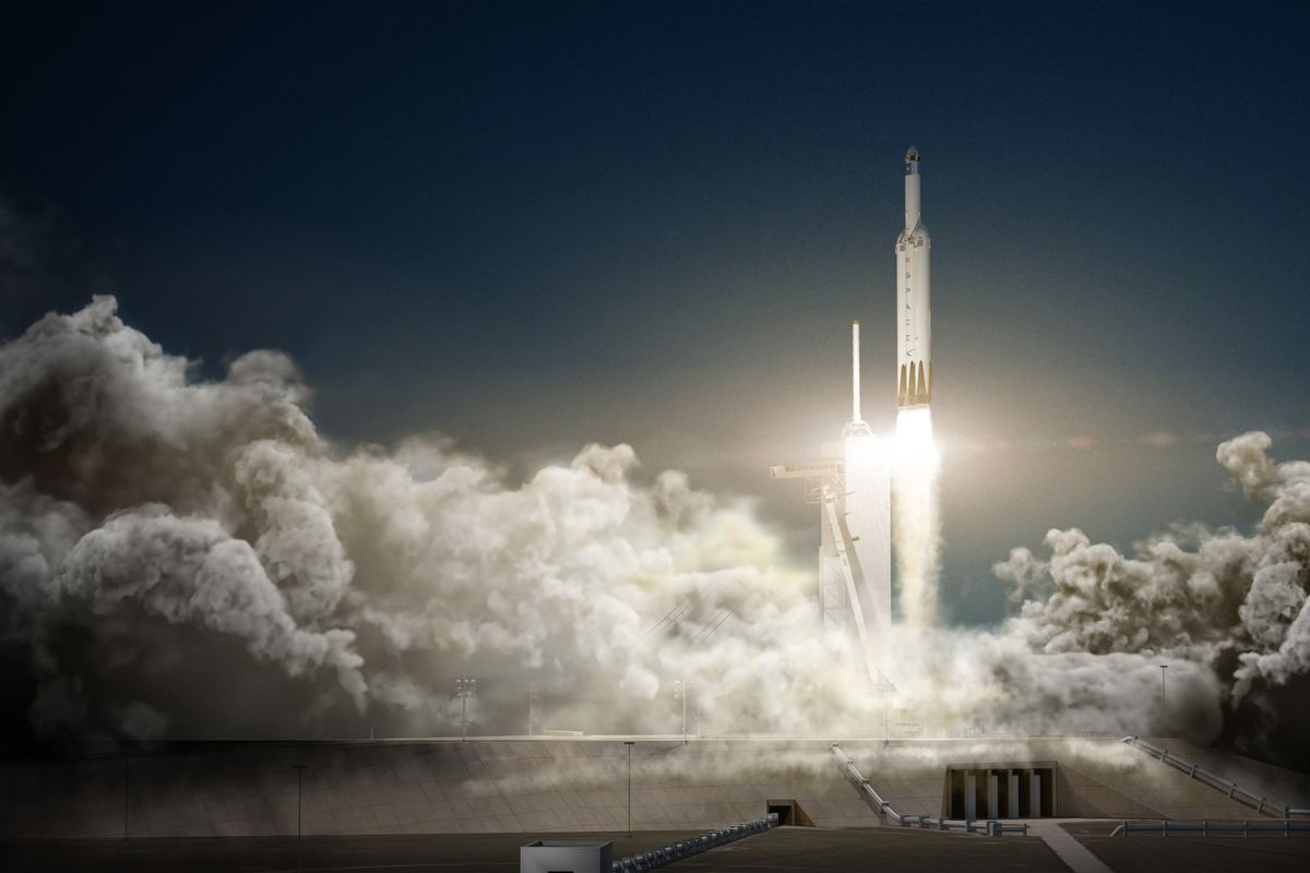 Animation Shows How the Falcon Heavy Rocket Will Release Tesla Roadster in Space