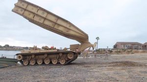 Watch M60 AVLB Make a Bridge in Under Two Minutes