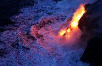 Kilauea Volcano: Mile of New Land Created by Lava