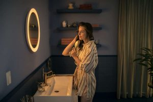 Adore Bathroom Lighted Mirror Connects to Smart Home Devices