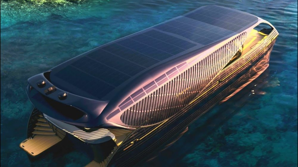 Solar-Powered Yacht