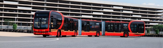 World's Longest Pure Electric Bus That Can Carry 250 Passengers