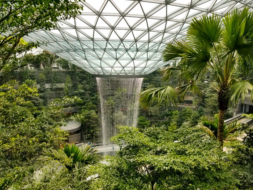 World's Tallest Indoor Waterfall Unveiled at the World's Best Airport