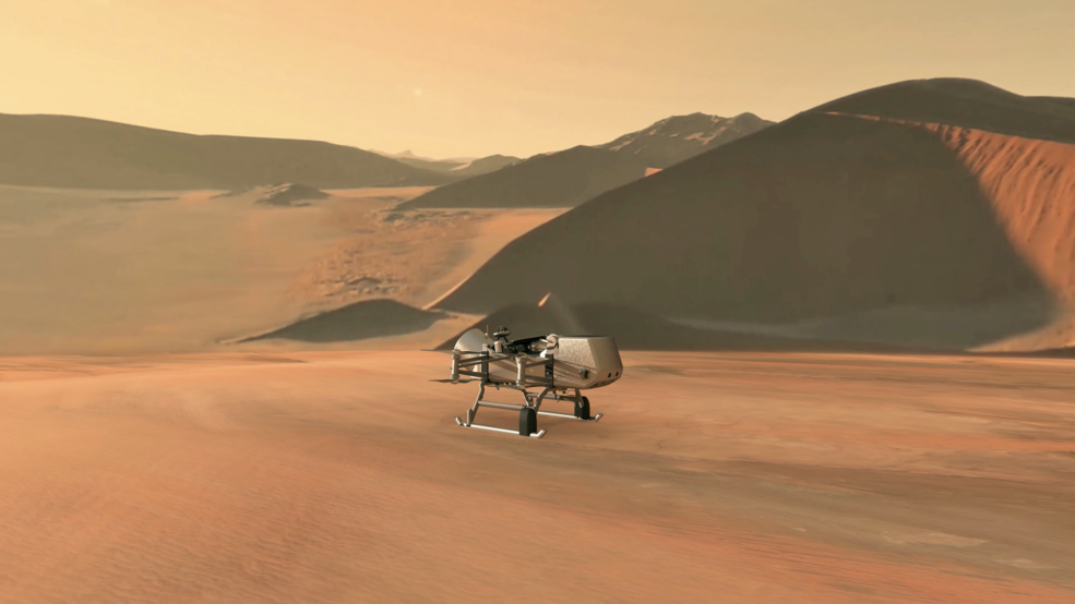 NASA's Dragonfly Robot to Look for Signs of Life on Saturn's Largest Moon