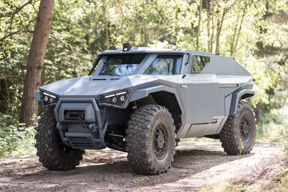 Volvo's New Military Transport Can Drive Sideways