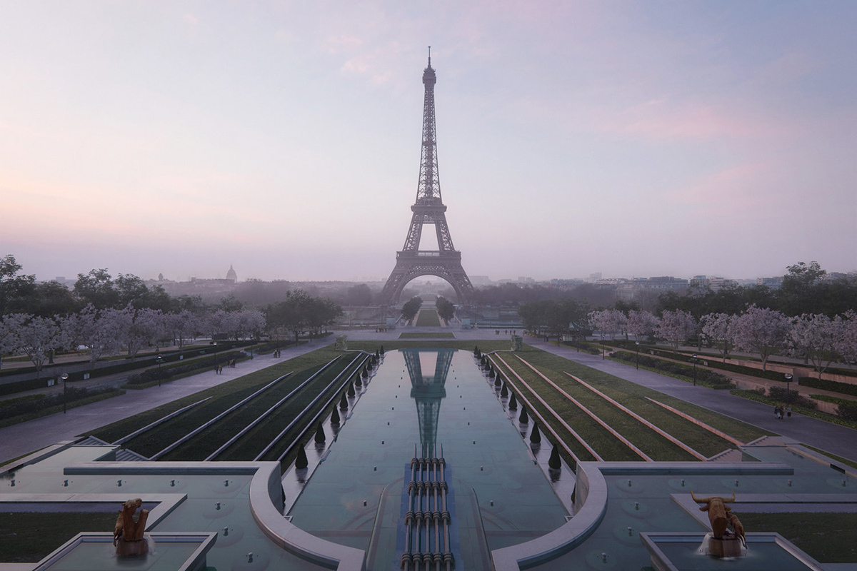 Gustafson Porter + Bowman Wins Competition to Redesign The Eiffel Tower