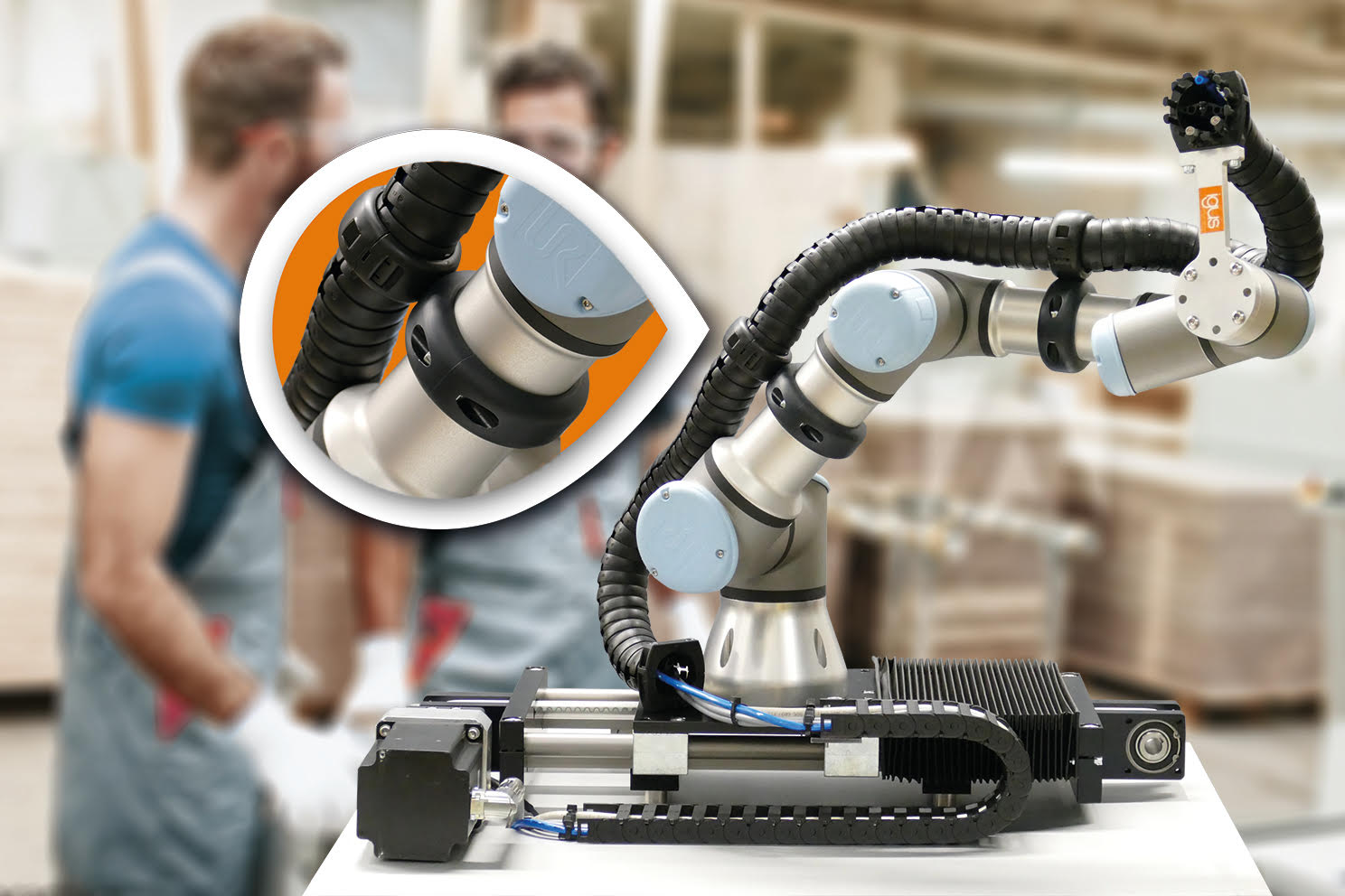 New Clamp From igus Ensures Safe Interaction of Man, Machine