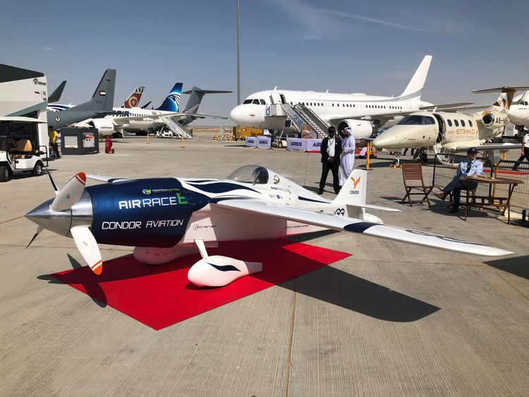 Air Race E Presented its First Electric Plane During the Dubai Airshow