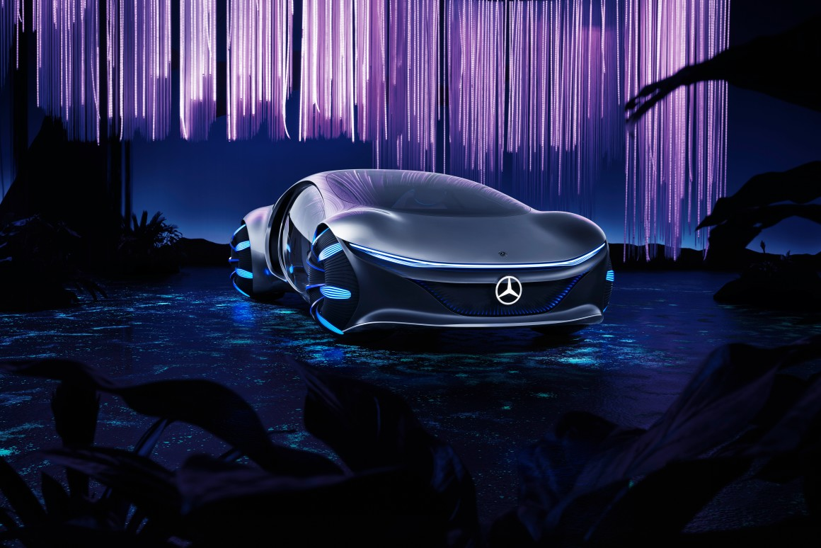 "Mercedes-Benz Unveils Vision AVTR Concept Car Inspired By Movie ""Avatar"""