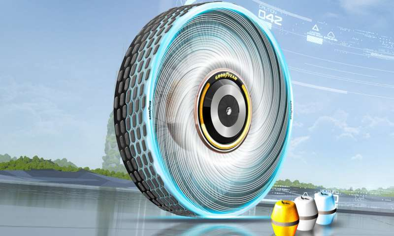 Goodyear's Biodegradable Concept Tire Can Regrow Its Own Tread