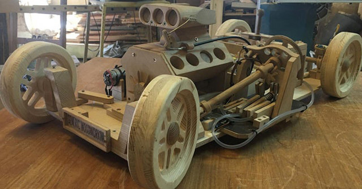 This High Schooler Builds Fully Functional Wooden Car