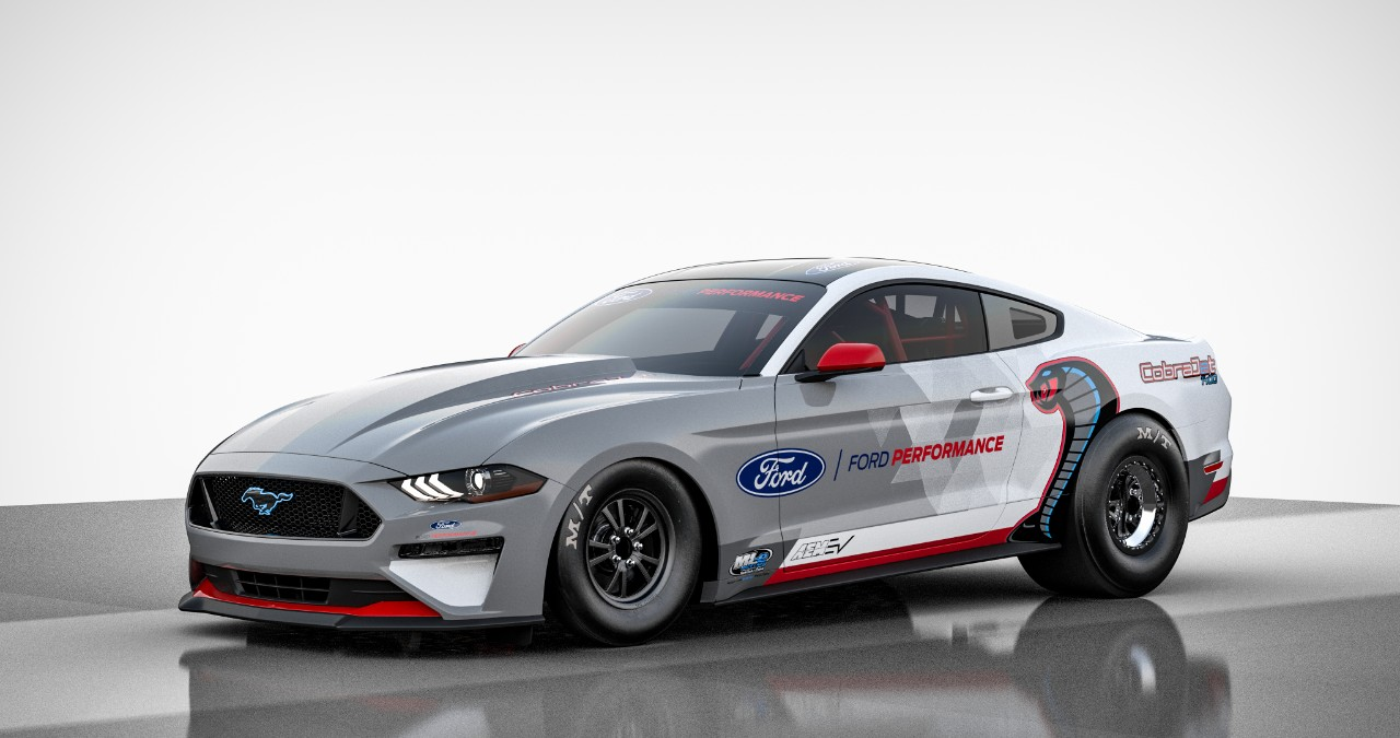 The Ford Mustang Cobra Jet Is a Mean All-Electric Drag Racing Machine