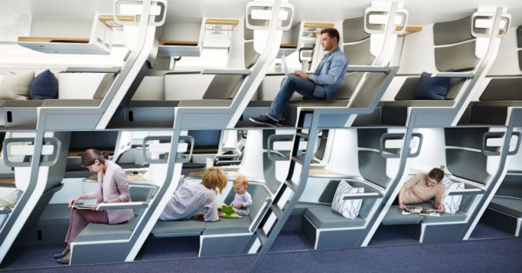 Double-Decker Style Airplane Design Would Let All Passengers Lie Flat In Economy