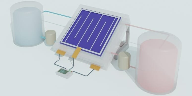 Solar Flow Battery Allows PV Generation and Storage in One Device