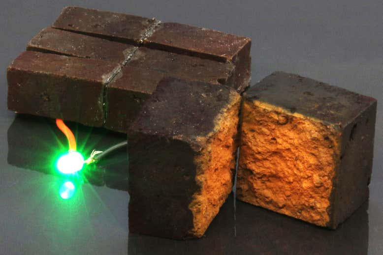 Ordinary Bricks Laced With Conductive Fibers Can Be Turned Into a Battery