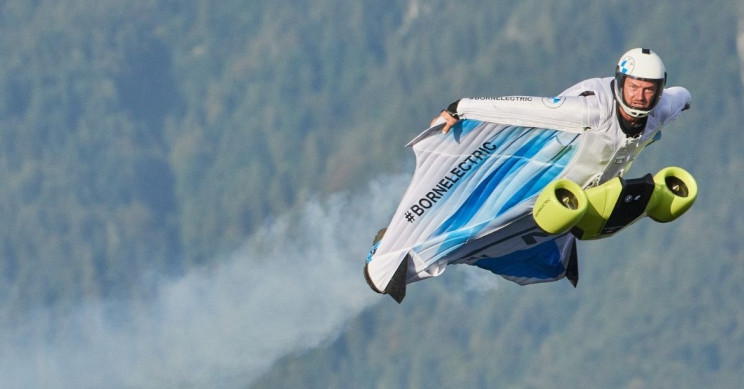 Watch BMW's All-Electric Wingsuit Taking Its Maiden Flight
