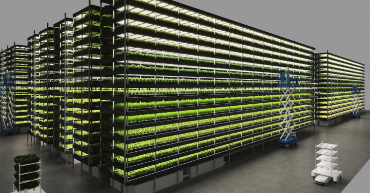 Giant Vertical Farm Powered By Wind Will Produce 1,000 Metric Tons of Greens A Year