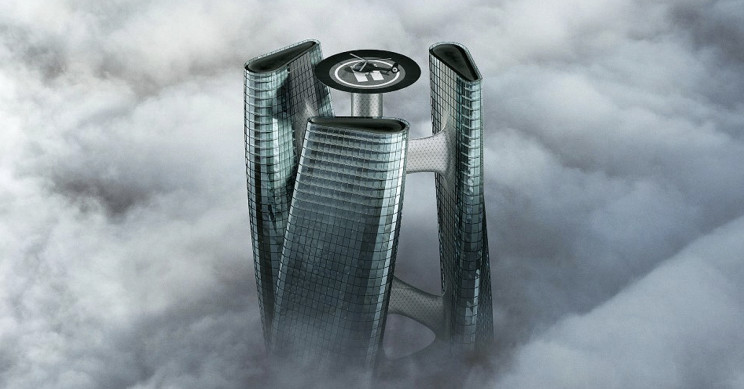 'Squall Tower': A Sky-Kissing Turbine Shaped Scraper That Rotates With The Wind