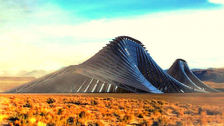 A Solar Mountain to Generate 300 Mwh of Renewable Energy in the Nevada Desert