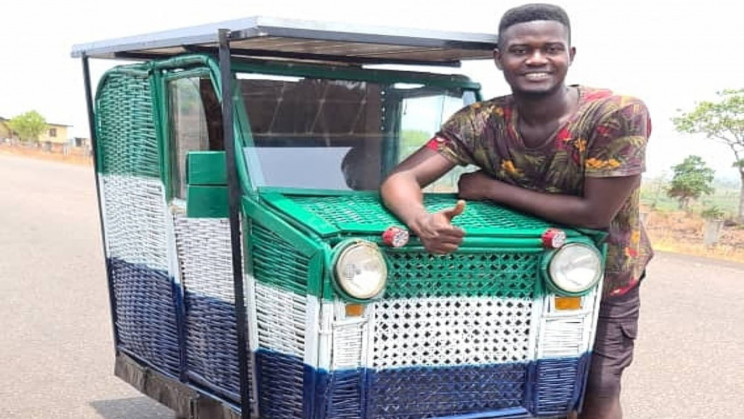 24-Year-Old Inventor Builds First Solar Powered From Trash