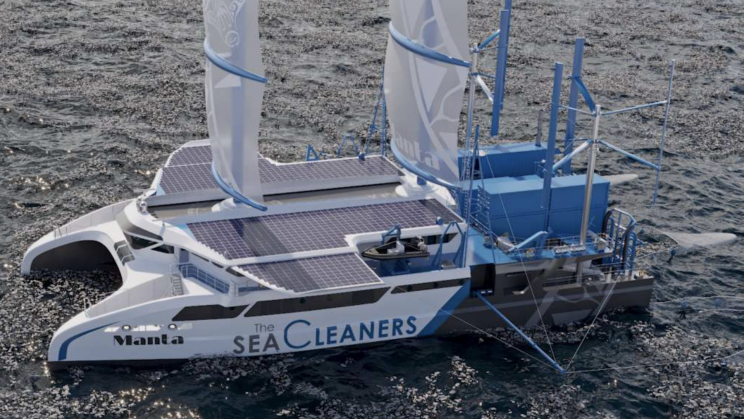 The Manta: A Sea Cleaning Yacht That Feeds on Plastic Waste