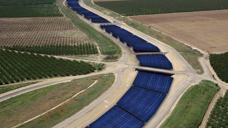 Solar Panels on California's Canals to save 63 Billion Gallons of Water a Year