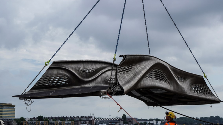 World's First 3D Printed Footbridge Installed In Amsterdam