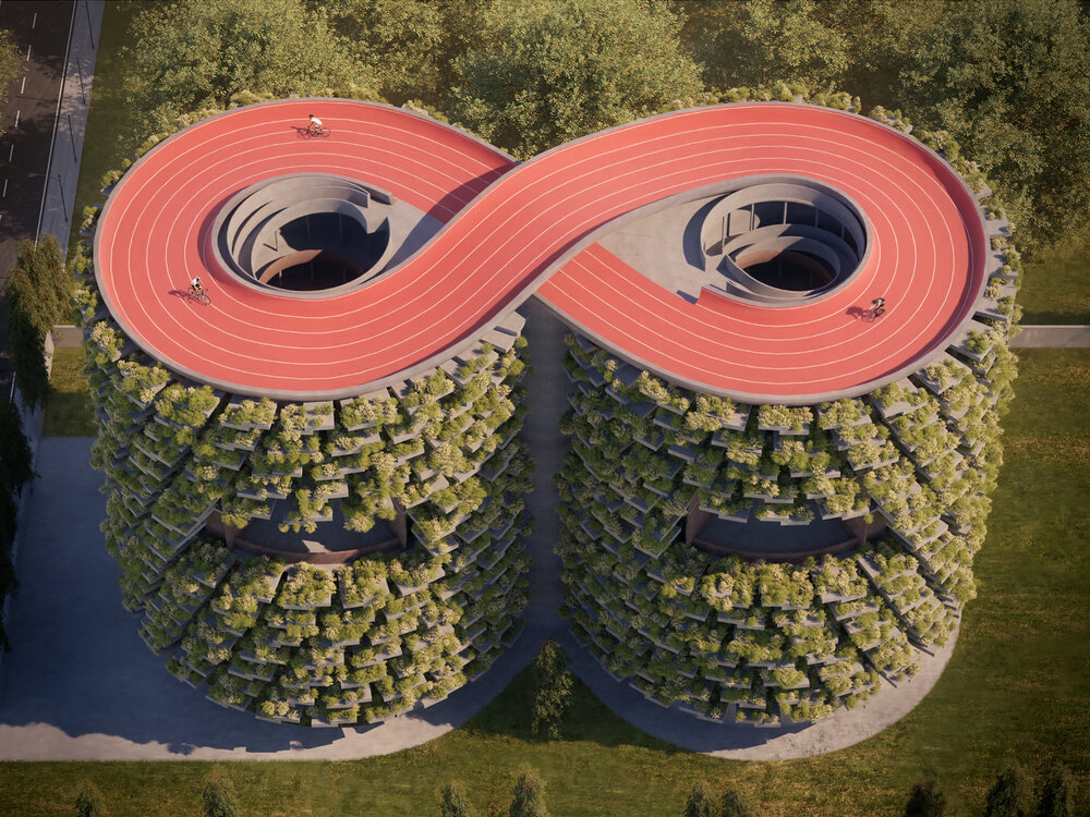 The Infinity Track Topped Forest School in India to Reduce Air Pollution