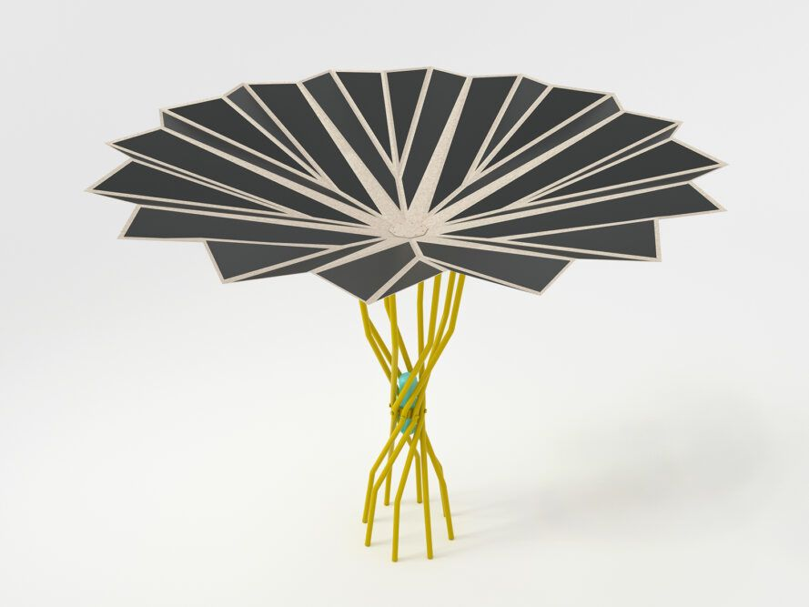 Blossoming Beach Umbrella Uses Solar Energy to Cool You Down