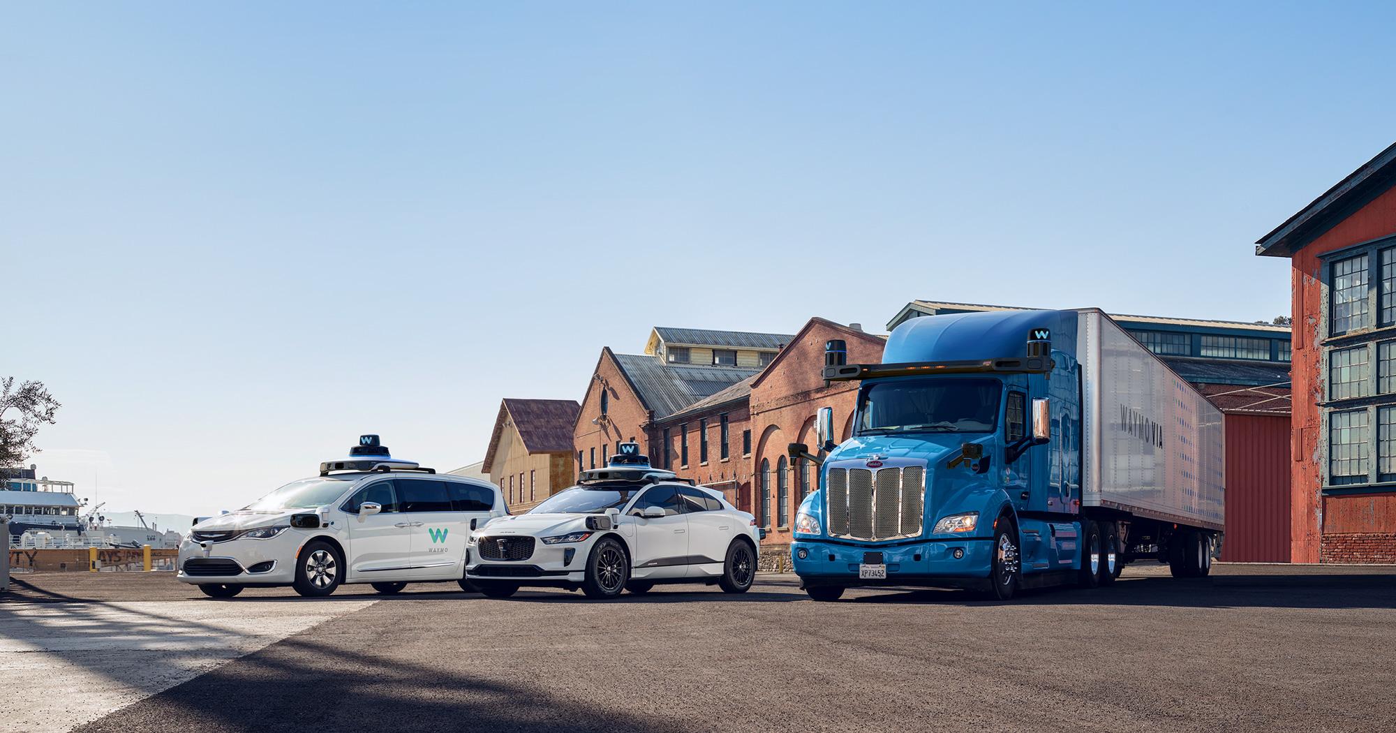 Waymo car lineups