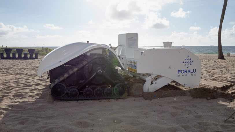 Solar-Powered Bebot Sifts Sand and Collects Small Pieces of Trash to Keep Beaches Clean