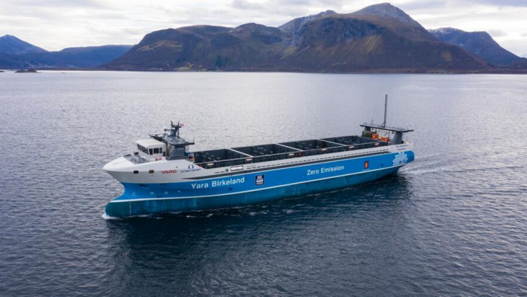 World's First Autonomous, Fully Electric Cargo Ship Is Ready to Make Its First Voyage