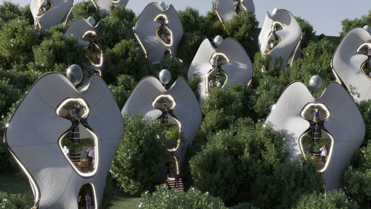 MASK Architects Designed the World's First Houses with '3D-Printed Steel Exoskeleton'