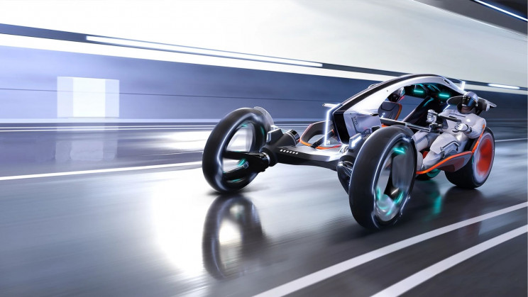 A New Concept Vehicle That Is a Cross between a Car and a Motorbike