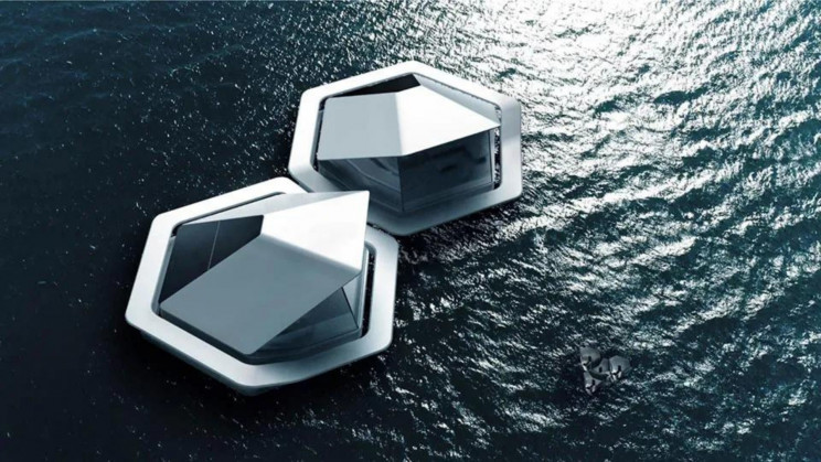 Sony Proposes Floating Pods for Humans Living To Deal with Rising Sea Levels
